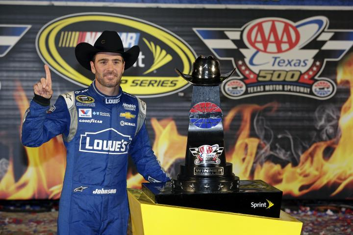 2015 Texas II CUP Jimmie Johnson trophy CIA