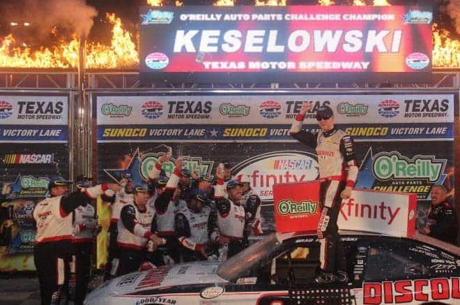 2015 XFINITY Texas Brad Keselowski Victory Lane Rick Lunkenheimer