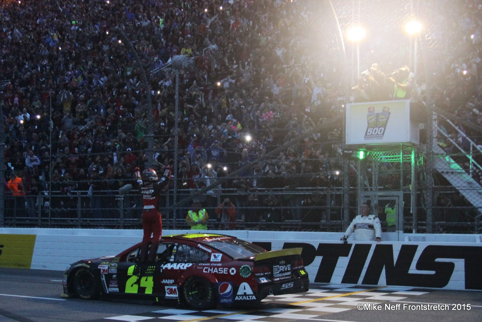 Martinsville Jeff Gordon Victory 2015 Cup Mike Neff