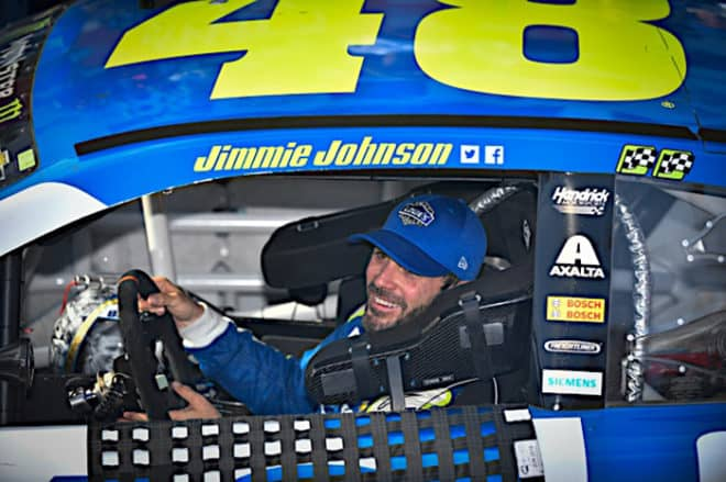 2017 Dover I CUP Jimmie Johnson happy Logan Whitton NKP