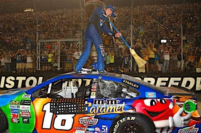 Kyle Busch Bringing out the Broom Bristol
