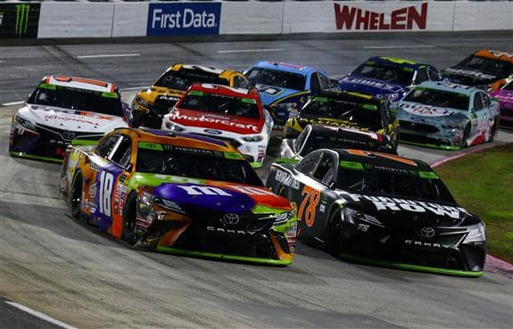 Cup Action Kyle Busch Leading Way