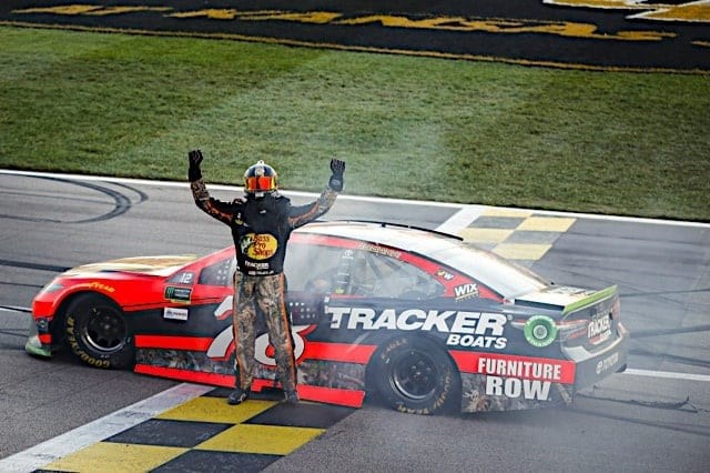 Martin Truex Jr. Kansas Celebration