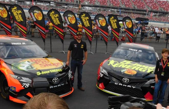 Furniture Row Racing Unveils 30 Race Partnership With Bass Pro Shops 5 Hour Energy For 2018