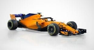 unveiling of papaya orange McLaren F1 car for 2018
