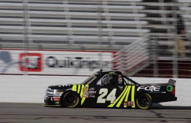 Justin Haley, Noah Gragson Pace Truck Practices at Atlanta