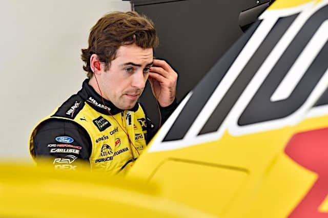 Ryan Blaney Leads the Way in First Practice at Kansas