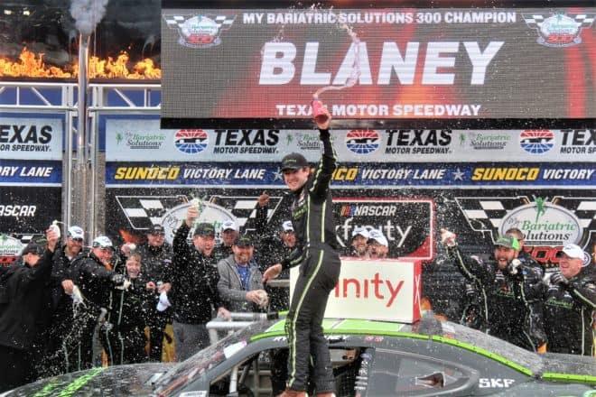 2018 NXS Texas Ryan Blaney Victory Lane Rick Lunkenheimer