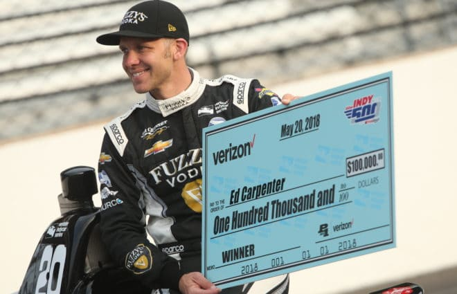 Ed Carpenter Wins 3rd Career Indianapolis 500 Pole