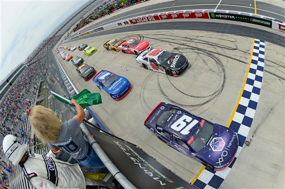 2018 Dover NASCAR XFINITY Series Brandon Jones green flag photo credit NASCAR via getty images