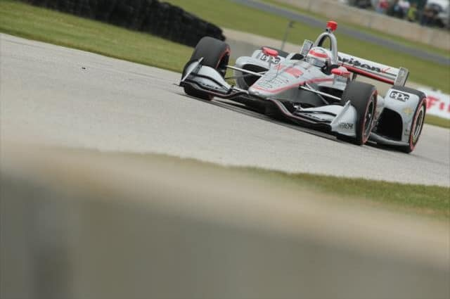 Will Power's Misfortune Continues with Apparent Exhaust Issue at Road America