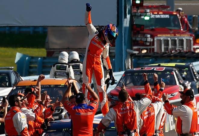 2018 Cup Watkins Glen Chase Elliott Crew Celebrate NASCAR via Getty Images
