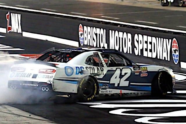 Kyle Larson Bristol Burnout