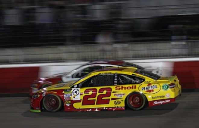 Joey Logano Upbeat Despite Quiet Night in Richmond