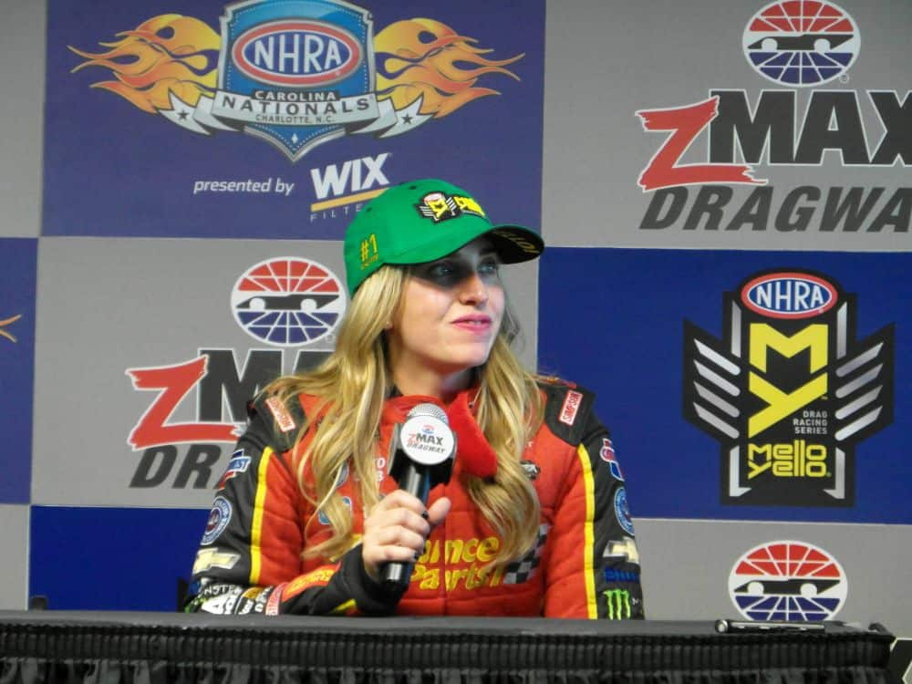 NHRA 2018 Charlotte Fall Brittany Force top qualifier credit Toni Montgomery