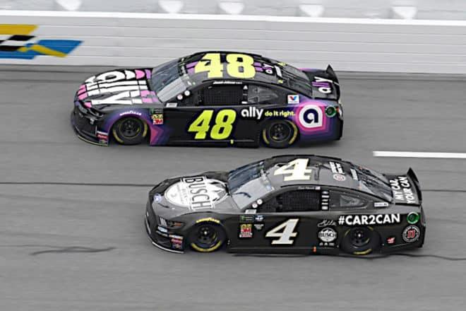 2019 Daytona Clash CUP Kevin HArvick Jimmie Johnson racing NKP