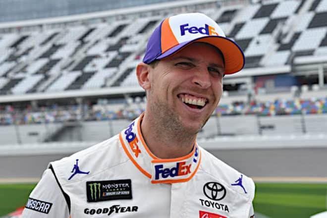 2019 Daytona I CUP Denny HAmlin laughing NKP