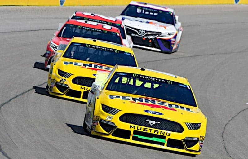 2019 Las Vegas I CUP Ryan Blaney Joey Logano racing NKP