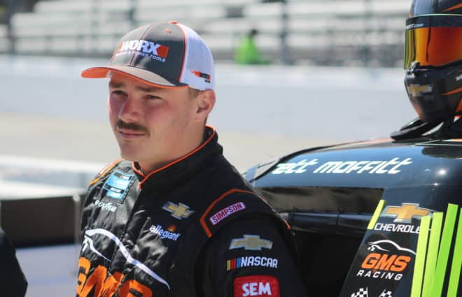 Defending Truck Champion Brett Moffitt's Enjoying His Time With GMS Racing