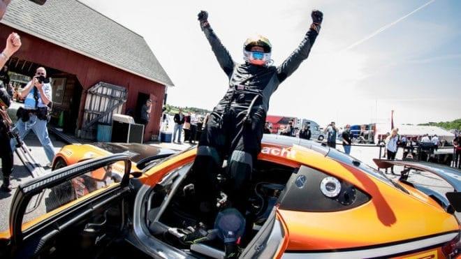 2019 VIR GT4S Matthew Fassnacht Victory Lane SRO America