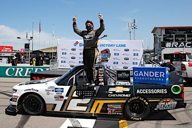 Sheldon Creed Takes Truck Pole at Talladega