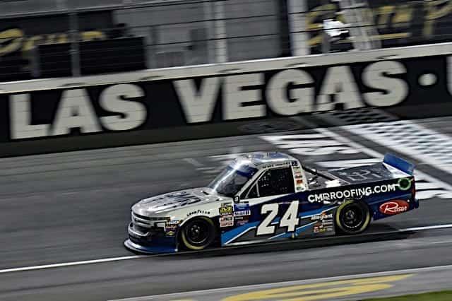 Brett Moffitt Grabs Vegas Truck Pole