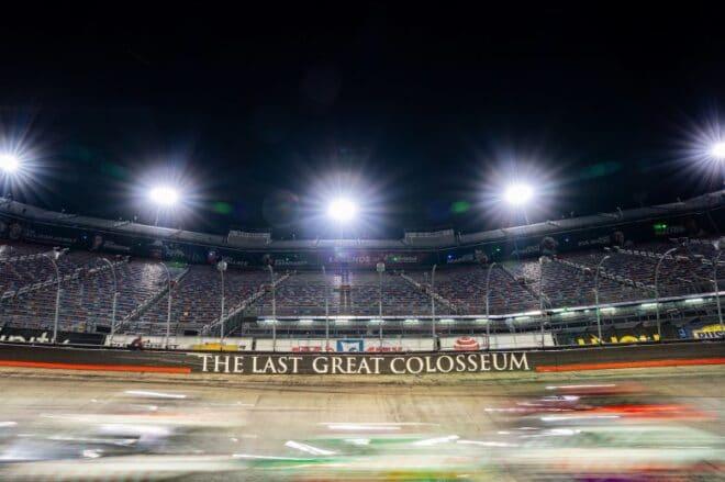 ARCA cars race in a blur at Bristol Motor Speedway