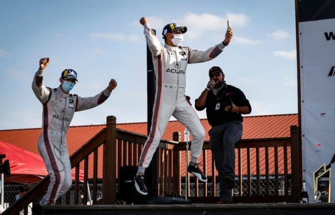 Helio Castroneves, Ricky Taylor Claim 3rd Straight WeatherTech Victory at Mid-Ohio