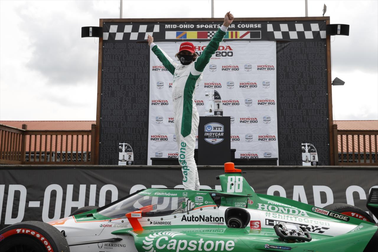 2020 Mid Ohio IndyCar Colton Herta Victory Lane IndyCar Media