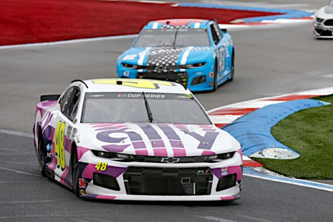 2020 Charlotte Road Cup Jimmie Johnson Bubba Wallace racing NKP