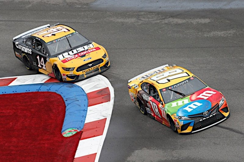 2020 Charlotte Road Cup Kyle Busch Clint Bowyer racing NKP