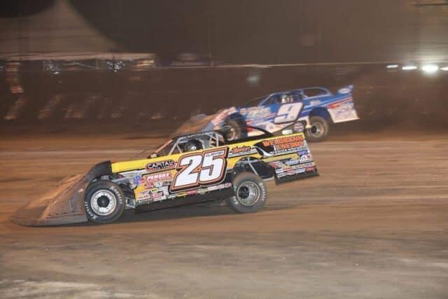 2018 Ken Kelly Volusia Speedway Park DIRTcar Nationals Multicar Shane Clanton Devin Moran scaled e1609990474941