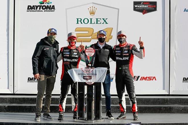 2021 Daytona IWSC Chase Elliott Pipo Derani Mike Conway Felipe Nasr Victory Lane Courtesy of IMSA