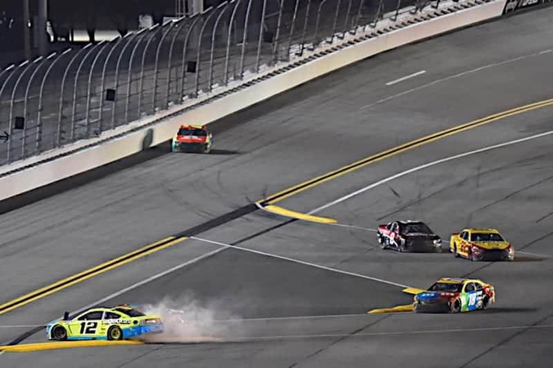Ryan Blaney, Chase Elliott Collide in the Busch Clash at Daytona, February 9, 2021