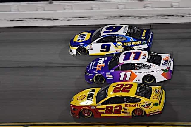 NASCAR racing action in the 2021 Daytona 500 Photo: NKP