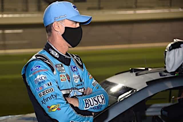 Kevin Harvick stands next to car at 2021 Daytona 500 Cup race Photo NKP