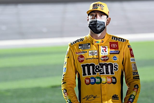 Kyle Busch standing on pit road at Daytona. Photo NKP