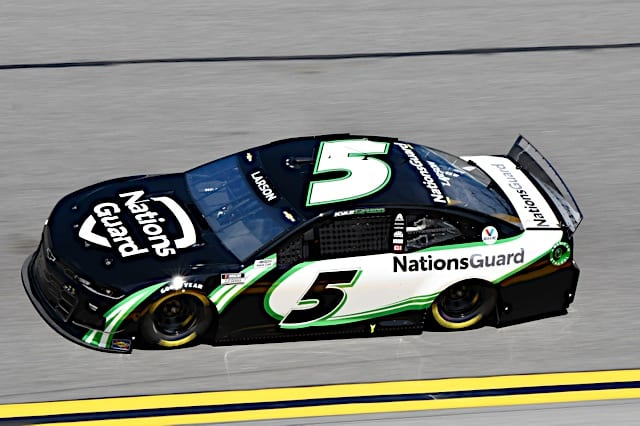 Kyle Larson car in 2021 Daytona 500 Photo: NKP