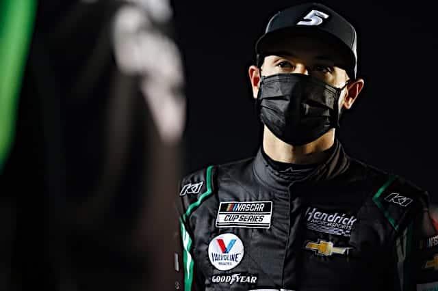 Kyle Larson face at the 2021 Daytona 500