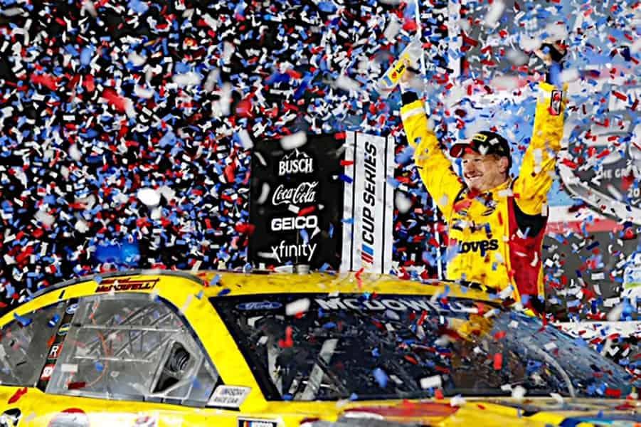 Michael McDowell Confetti Daytona (Photo: Nigel Kinrade Photography)