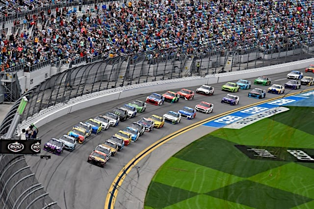The start of the 2021 Daytona 500