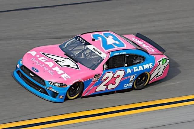 Jason White No. 23 car A-Game sponsor in 2021 Daytona Xfinity race Photo NKP