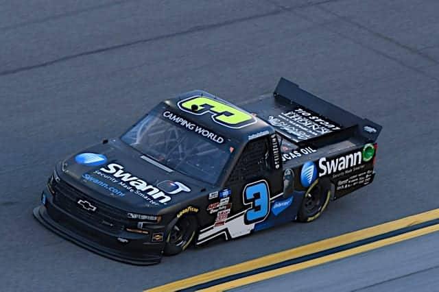 Jordan Anderson at Daytona, 2/12/2021