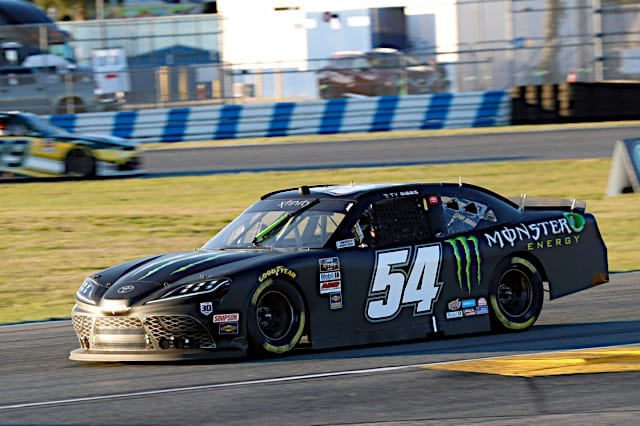 Ty Gibbs driving the No. 54 car through the Daytona road course, Xfinity, 2021, Photo Nigel Kinrade Photography