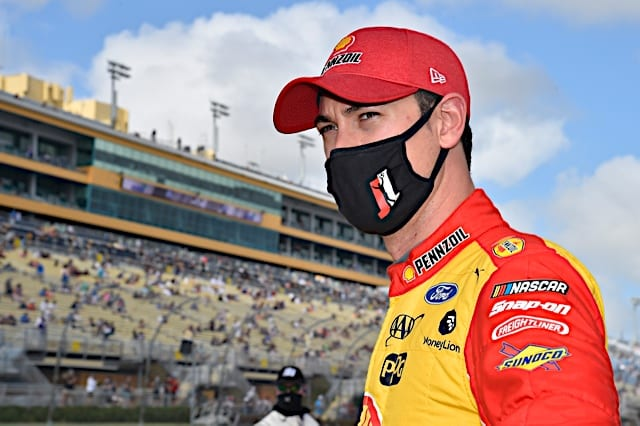 Joey Logano looks on before the 2021 Homestead Cup event Photo NKP