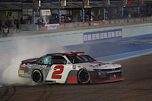 2021 Xfinity Homestead Myatt Snider, No. 2 Richard Childress Racing Chevrolet, Burnout (Credit: NKP)