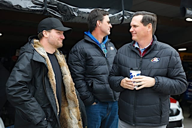 Dale Earnhardt Jr. with Steve Letarte and Rick Allen