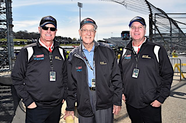 Eddie Wood, Glen Wood, Len Wood at Martinsville in 2017 Photo NKP