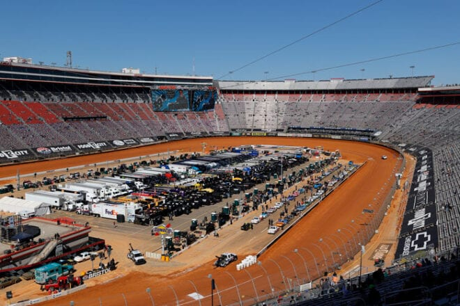 2021 Bristol dirt trucks track overhead Jared C Tilton Getty Images via NASCAR
