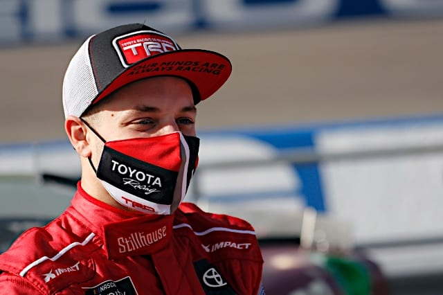 Santino Ferrucci in the pits at Homestead, 2/27/2021 (Photo: Nigel Kinrade Photography)